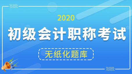 2020年初级会计职称考试题库两科