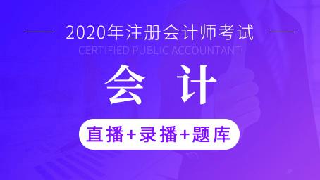 2020年注册会计师-会计(直播+录播+题库)