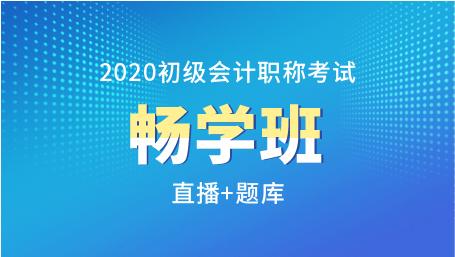 2020年初级会计职称畅学班(直播+题库)