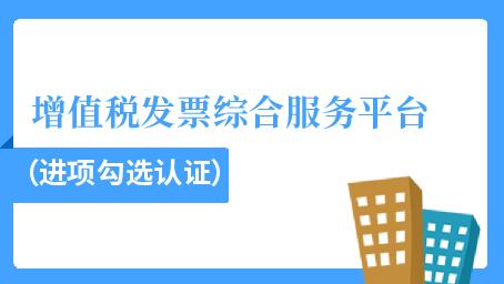 增值税发票综合服务平台(进项勾选认证)